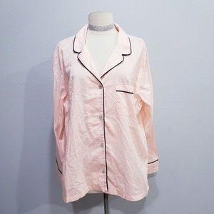 New Victoria's Secret pajama button top LARGE